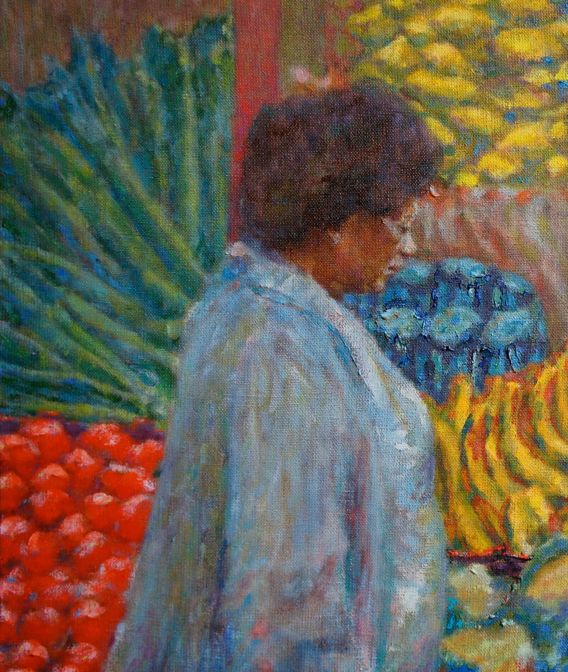 Lady at Brixton Market – Roland F A  McMorran