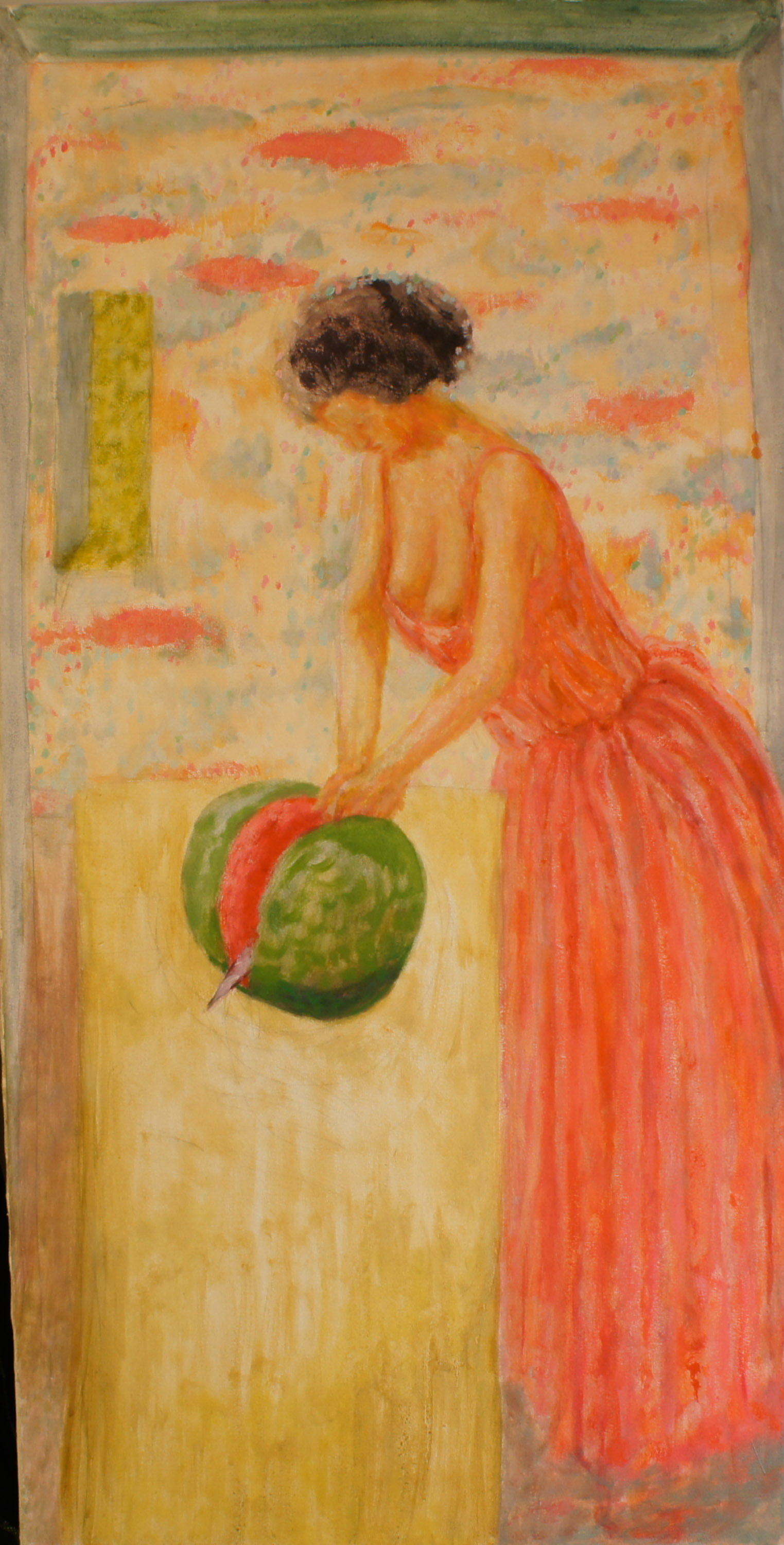 Woman Cutting Mellon Clothed – Roland F A  McMorran