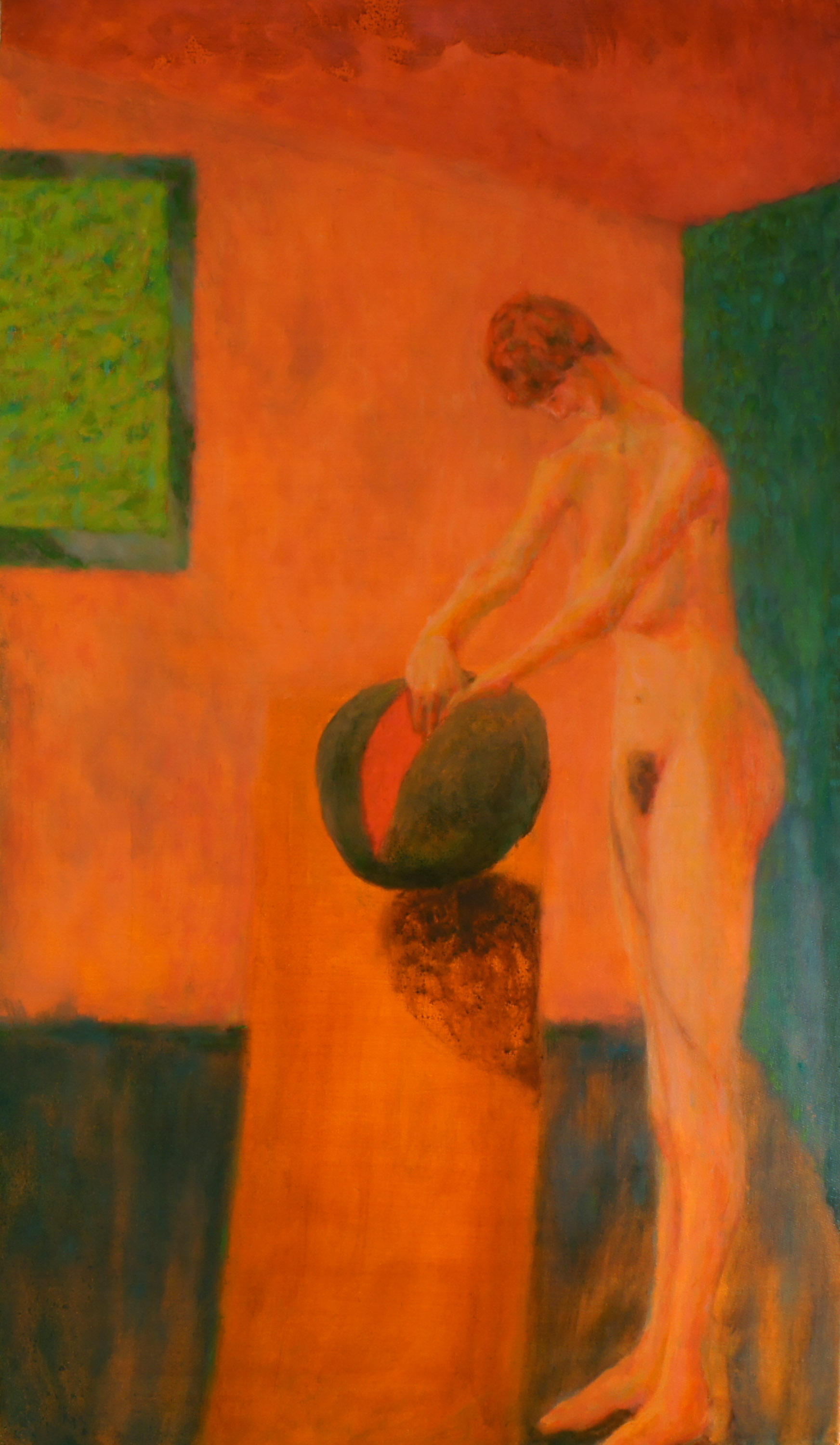 Woman Cutting Mellon Nude – Roland F A  McMorran